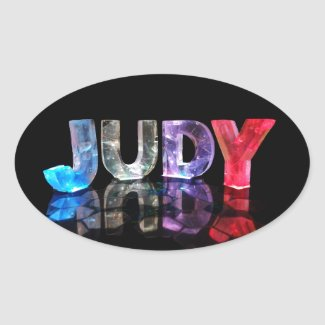 The Name Judy in 3D Lights (Photograph) Stickers