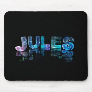 The Name Jules in 3D Lights (Photograph) Mousepads