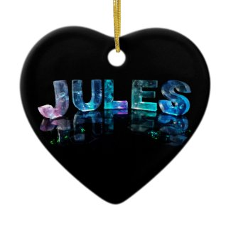 The Name Jules in 3D Lights (Photograph) Christmas Ornaments