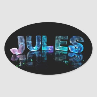 The Name Jules in 3D Lights (Photograph) Sticker