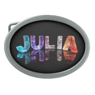 The Name Julia in 3D Lights (Photograph) Belt Buckle