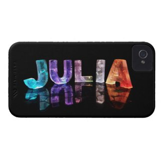 The Name Julia in 3D Lights (Photograph) Case-Mate iPhone 4 Cases