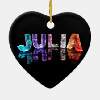 The Name Julia in 3D Lights (Photograph) Christmas Ornament