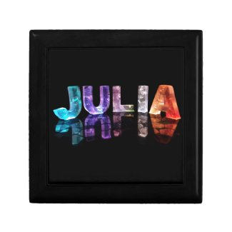 The Name Julia in 3D Lights (Photograph) Gift Boxes