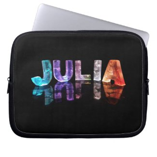 The Name Julia in 3D Lights (Photograph) Laptop Sleeve