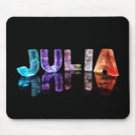 The Name Julia in 3D Lights (Photograph) Mouse Pad