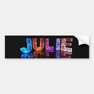 The Name Julie in 3D Lights (Photograph) Bumper Sticker