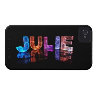 The Name Julie in 3D Lights (Photograph) iPhone 4 Case-Mate Case