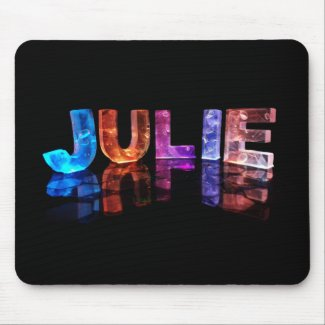 The Name Julie in 3D Lights (Photograph) Mousepads