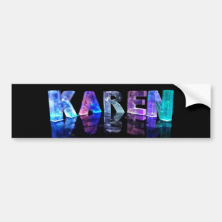The Name Karen in 3D Lights (Photograph) Bumper Sticker