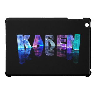 The Name Karen in 3D Lights (Photograph) Cover For The iPad Mini
