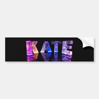 The Name Kate in 3D Lights (Photograph) Bumper Stickers