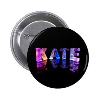 The Name Kate in 3D Lights (Photograph) Buttons
