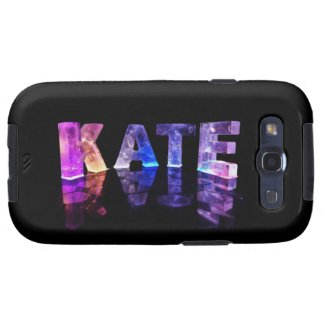 The Name Kate in 3D Lights (Photograph) Samsung Galaxy S3 Cases
