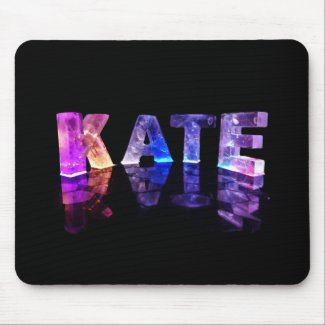 The Name Kate in 3D Lights (Photograph) Mouse Pad