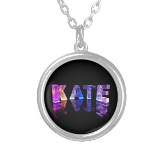 The Name Kate in 3D Lights (Photograph) Custom Necklace