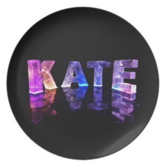 The Name Kate in 3D Lights (Photograph) Plates