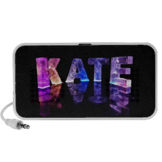 The Name Kate in 3D Lights (Photograph) iPhone Speakers