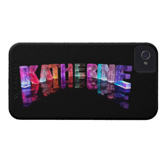 The Name Katherine in 3D Lights (Photograph) iPhone 4 Case-Mate Cases