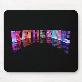 The Name Katherine in 3D Lights (Photograph) Mouse Mat