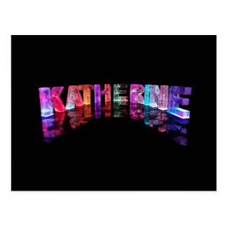 The Name Katherine in 3D Lights (Photograph) Postcard