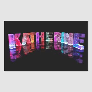 The Name Katherine in 3D Lights (Photograph) Rectangular Sticker