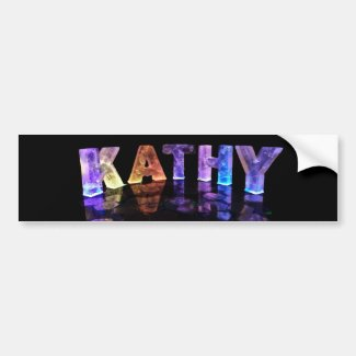 The Name Kathy in 3D Lights (Photograph) Bumper Stickers