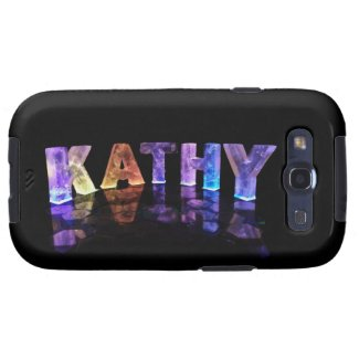 The Name Kathy in 3D Lights (Photograph) Galaxy SIII Case