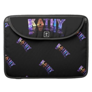 The Name Kathy in 3D Lights (Photograph) MacBook Pro Sleeve