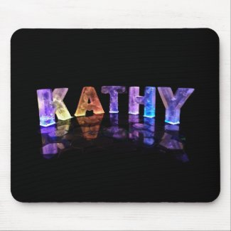 The Name Kathy in 3D Lights (Photograph) Mousepad