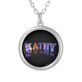 The Name Kathy in 3D Lights (Photograph) Personalised Necklace