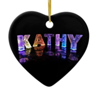 The Name Kathy in 3D Lights (Photograph) Ornament