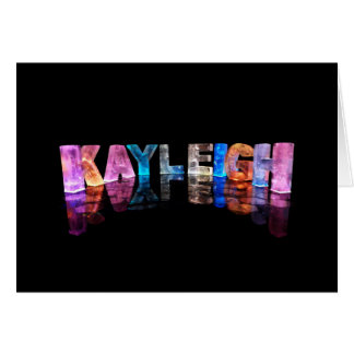 The Name Kayleigh in 3D Lights (Photograph) Card