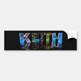 The Name Keith in 3D Lights (Photograph) Bumper Sticker