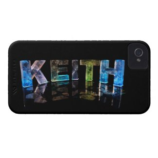The Name Keith in 3D Lights (Photograph) iPhone 4 Covers