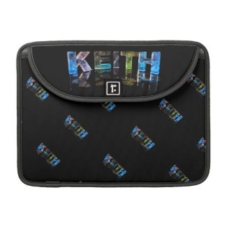The Name Keith in 3D Lights (Photograph) Sleeves For MacBooks