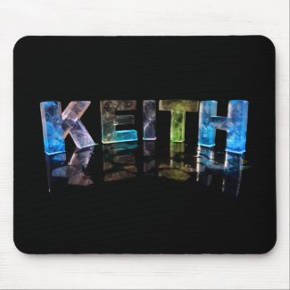 The Name Keith in 3D Lights (Photograph) Mouse Pads