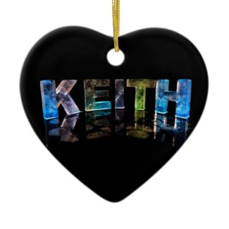 The Name Keith in 3D Lights (Photograph) Ornament
