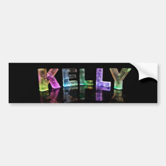 The Name Kelly in 3D Lights (Photograph) Bumper Sticker
