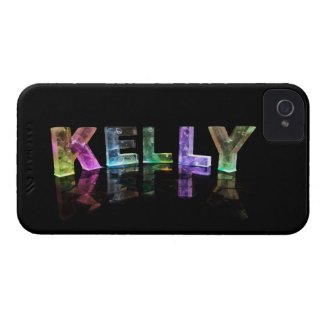 The Name Kelly in 3D Lights (Photograph) iPhone 4 Case-Mate Cases