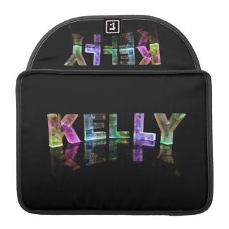 The Name Kelly in 3D Lights (Photograph) MacBook Pro Sleeve