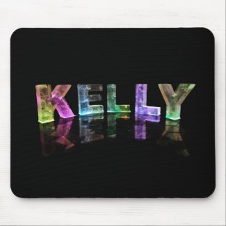 The Name Kelly in 3D Lights (Photograph) Mouse Pads