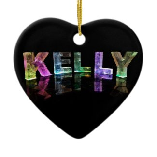 The Name Kelly in 3D Lights (Photograph) Ornaments