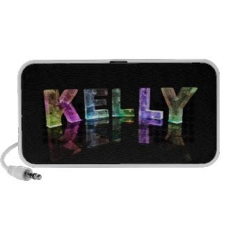 The Name Kelly in 3D Lights (Photograph) Mini Speaker