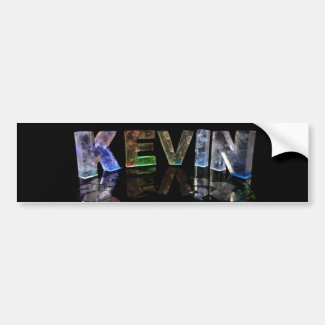 The Name Kevin in 3D Lights (Photograph) Bumper Sticker