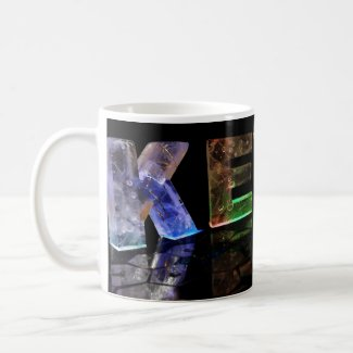 The Name Kevin in 3D Lights (Photograph) Mugs