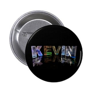 The Name Kevin in 3D Lights (Photograph) Pins