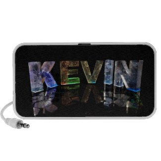 The Name Kevin in 3D Lights (Photograph) Travel Speaker