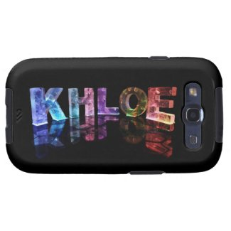 The Name Khloe in 3D Lights (Photograph) Samsung Galaxy SIII Case
