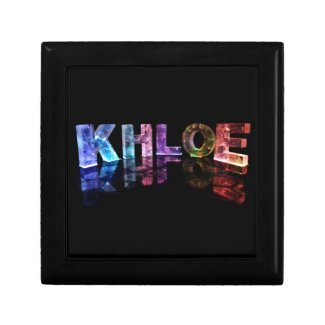 The Name Khloe in 3D Lights (Photograph) Gift Boxes